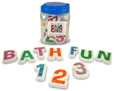 Kids Preferred Eric Carle Foam ABC 123 Bath Playset-36 Piece Set tha includes 26 letters and 10 numbers
