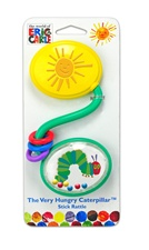 "7"" Kids Preferred Eric Carle plastic curved stick rattle"
