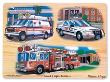 Melissa & Doug Emergency Vehicles Sound and Light