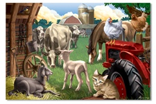 Melissa & Doug 100 pc In The Barnyard Cardboard Jigsaw