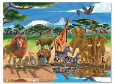 Melissa & Doug 300 pc On the Savannah Cardboard Jigsaw
