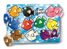 Melissa & Doug Fish Colors Mix 'n Match Peg