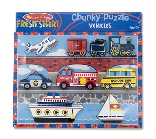 Melissa Amp Doug Vehicles Chunky Puzzle