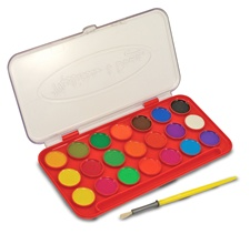 Melissa & Doug Deluxe Watercolor Paint Set (21 colors)