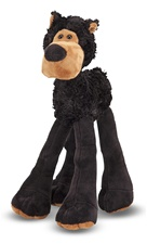 Melissa & Doug Lanky Legs Black Bear- Plush