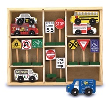 Melissa & Doug Vehicles and Traffic Signs