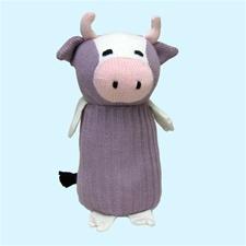 "Maggie's Organics - Cow 8""H Lavender"