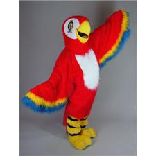 Mask U.S. Red Macaw Mascot Costume