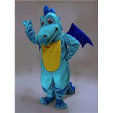 Mask U.S. Light Blue Dragon Mascot Costume