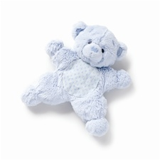 "10.5"" Nat & Jules Blue Bear Flatso with Rattle"