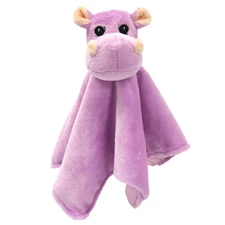 "Snuggle Safari Hippo 10"" Blanket"