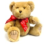 "Medium Red I Love You Bow - Recommended for Animals 11"" to 24"" Long-BEAR NOT INCLUDED"