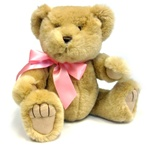 "Medium Pink Bow - Recommended for Animals 11"" to 24"" Long-BEAR NOT INCLUDED"
