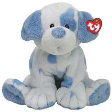 "Ty Baby 10"" Baby Pups Blue Spotted Dog"