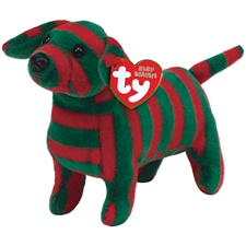 "Ty Baby Beanie 5"" Stripes Dog"
