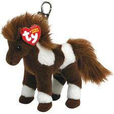 """Ty Beanie Babies 4"""" Thunderbolt Horse Clip"""