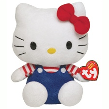 "Ty Beanie Babies 8"" Hello Kitty USA"