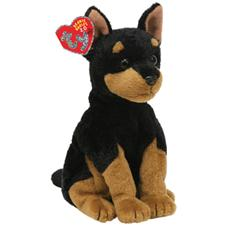 "Ty 2.0 Beanie Babies 8"" Trooper Doberman Discontinued"