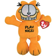 "Ty Bow Wow Beanies 8"" Garfield Play Nice!"