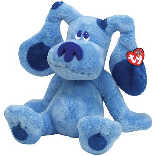 rare ty beanie bables ty beanie buddies 12 blue blues clue dog. Black Bedroom Furniture Sets. Home Design Ideas