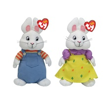 "Ty Beanie Babies 8"" Nick Jr's Max & Ruby Set"