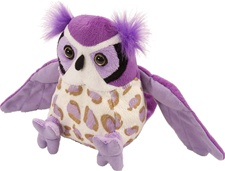 Wild Republic Cuddlekins-Mini Great Horned Owl Purple discontinued