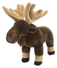 "12"" Wild Republic Cuddlekins Moose"