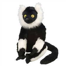 Wild Republic Black & White Lemur 12""