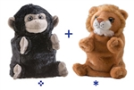 "Wild Republic 8"" Switch-A-Rooz Reversible Plush Lion and Gorilla"