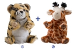 "Wild Republic 8"" Switch-A-Rooz Reversible Plush Giraffe and Cheetah"