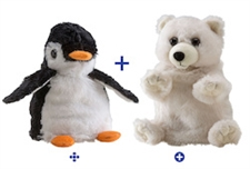 "Wild Republic 8"" Switch-A-Rooz Reversible Plush Penguin and Polar Bear"