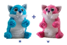 "Wild Republic 8"" Switch-A-Rooz Reversible Plush Pink Fox and Blue Fox"