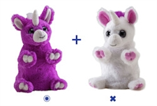 "Wild Republic 8"" Switch-A-Rooz Reversible Plush Purple Unicorn and White Unicorn"