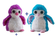 "Wild Republic 8"" Switch-A-Rooz Reversible Plush Blue Penguin and Purple Penguin"