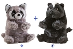 "Wild Republic 8"" Switch-A-Rooz Reversible Plush Raccoon and Skunk"