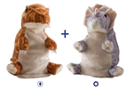 "Wild Republic 8"" Switch-A-Rooz Reversible Plush T-Rex and Triceratops"