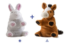 "Wild Republic 8"" Switch-A-Rooz Reversible Plush Horse and Bunny"