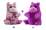 "Wild Republic 8"" Switch-A-Rooz Reversible Plush Pink Hippo and Purple Hippo"