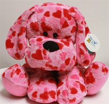 "Beverly Hills Teddy Bear 10"" Sitting Valentine Heart Dog"