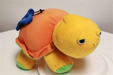 "Beverly Hills Teddy Bear 12"" Plush Rattle Turtle-Orange"