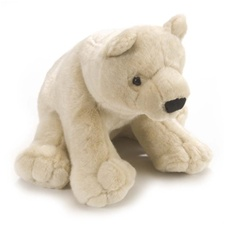 "12""  Wild Republic Cuddlekins Bear Polar (D)"