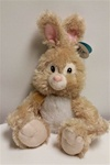 "Beverly Hills Teddy Bear 15"" Brown Bunny W/ Bow"
