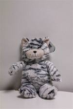 "Beverly Hills Teddy Bear 9"" Scruffy Cats-GREY"