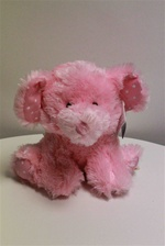 "Beverly Hills Teddy Bear 10"" Pink/Blue Rattle Elephant-PINK"