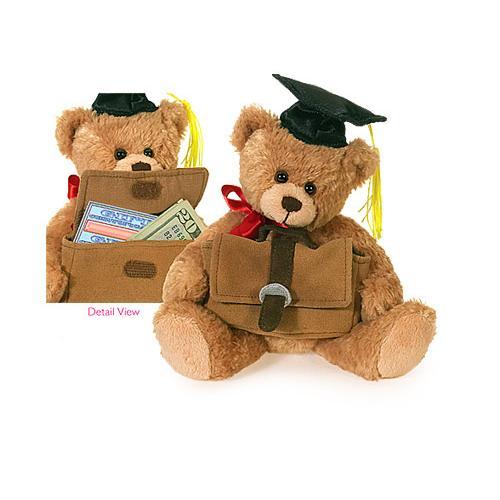 Plushland Graduation Bear With Gift Card Holder 8