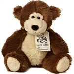 "Aurora 8"" Luv To Cuddle Dark Brown Bear"