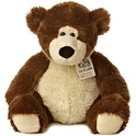 "Aurora 12"" Luv To Cuddle Dark Brown Bear"