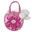 "Aurora 5.5"" Big Flower Pet Carrier Purse with Lights"