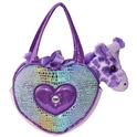 "Aurora 6.5"" Blue Heart Shaped Fancy Pals Purse"