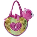 "Aurora 6.5"" Rainbow Heart Shaped Fancy Pal Purse"